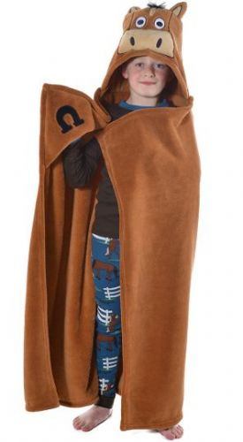 LazyOne Hooded 'Critter' Fleece Blanket in Brown